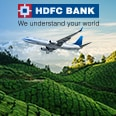 Up to INR 1,500 instant discount on Domestic Flights | HDFC Bank Credit Cards
